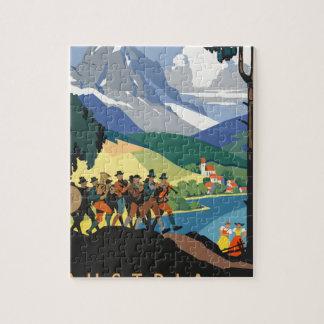 Vintage Travel Austria Jigsaw Puzzle