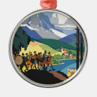 Vintage Travel Austria Metal Ornament