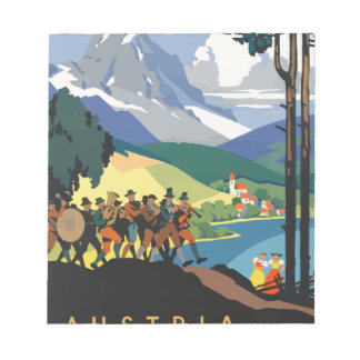 Vintage Travel Austria Notepad