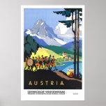 Vintage travel,Austria Poster