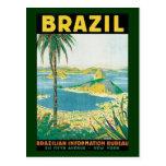 Vintage Travel Beach Coast, Rio de Janeiro Brazil