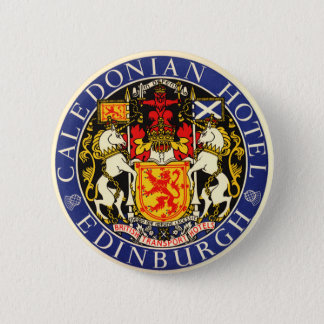 Vintage Travel Caledonian Hotel Edinburgh Scotland 2 Inch Round Button