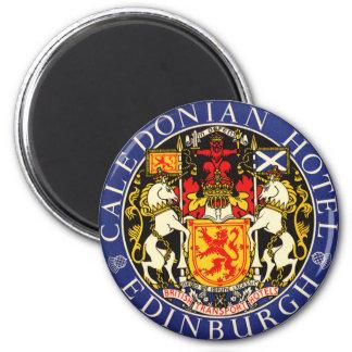 Vintage Travel Caledonian Hotel Edinburgh Scotland 2 Inch Round Magnet