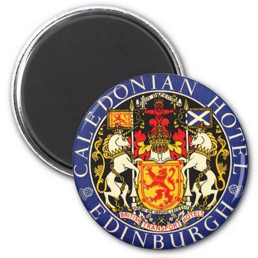 Vintage Travel Caledonian Hotel Edinburgh Scotland Magnet