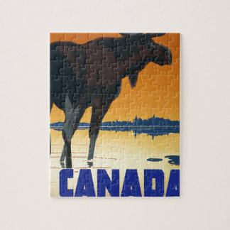 Vintage Travel Canada Jigsaw Puzzle