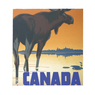 Vintage Travel Canada Notepad