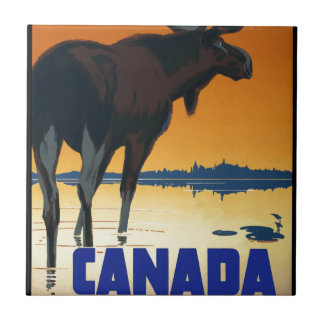 Vintage Travel Canada Tile