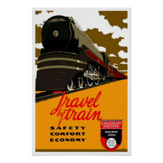 Vintage travel,Canadian Paciffic Railway Poster