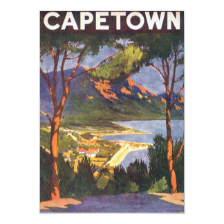 Vintage Travel, Cape Town, South Africa Invitation