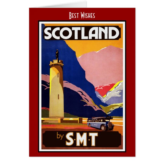 Vintage Travel Card Scotland by S.M.T