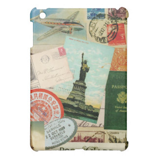 Vintage travel collage ipad mini case