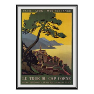 Vintage travel Corsica - Posters