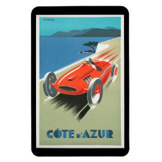 Vintage Travel Cote d'Azur France Red Race Car Magnet
