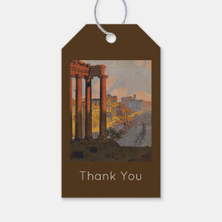 Vintage Travel Design with Roman Forum in View Gift Tags