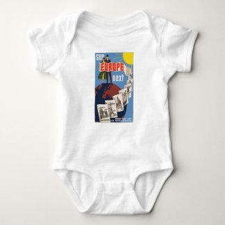 Vintage Travel Europe Baby Bodysuit