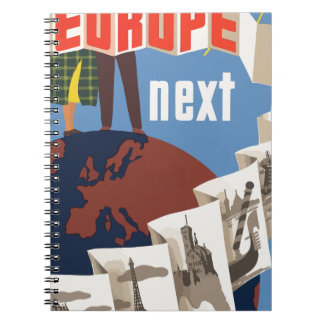 Vintage Travel Europe Notebook