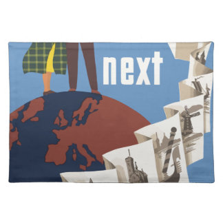 Vintage Travel Europe Placemat