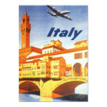 "Vintage Travel Florence Firenze Italy Bridge River 5"" X 7"" Invitation Card"