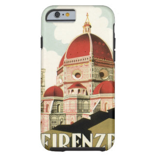 Vintage Travel Florence Firenze Italy Church Duomo Tough iPhone 6 Case