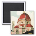Vintage Travel Florence Firenze Italy Church Duomo Refrigerator Magnet