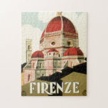 Vintage Travel Florence Firenze Italy Church Duomo Puzzles