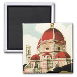 Vintage Travel Florence Firenze Italy Church Duomo Square Magnet