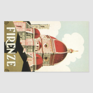 Vintage Travel Florence Firenze Italy Church Duomo Sticker