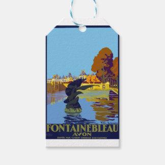 Vintage Travel Fontainebleau Paris France Gift Tags