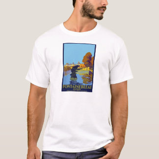 Vintage Travel Fontainebleau Paris France T-Shirt