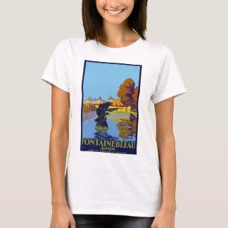 Vintage Travel Fontainebleau Paris France T-Shirt
