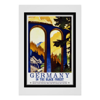 Vintage Travel Germany The Black Forest Poster