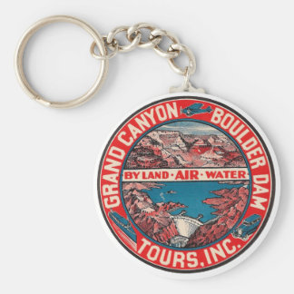 Vintage Travel - Grand Canyon / Boulder Dam Keychain