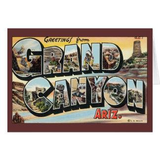 Vintage Travel Greetings from Grand Canyon Arizona Card