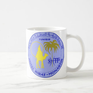 Vintage Travel Hotel Ribat in Monastir, Tunisia Coffee Mug