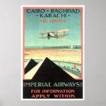Vintage travel,Imperial Airways Poster