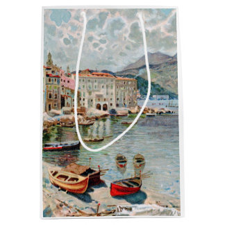 Vintage Travel in the French Riviera Medium Gift Bag
