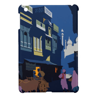Vintage Travel India A Street By Moonlight iPad Mini Covers