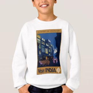 Vintage Travel India A Street By Moonlight Sweatshirt