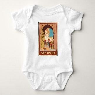 Vintage Travel India Baby Bodysuit