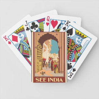 Vintage Travel India Bicycle Playing Cards