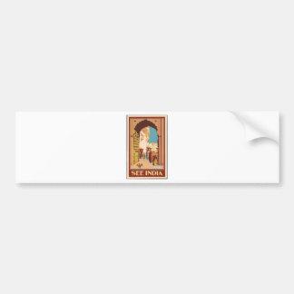 Vintage Travel India Bumper Sticker