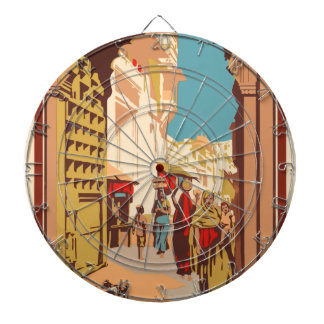 Vintage Travel India Dartboard