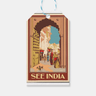 Vintage Travel India Gift Tags