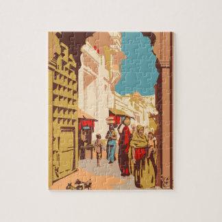 Vintage Travel India Jigsaw Puzzle