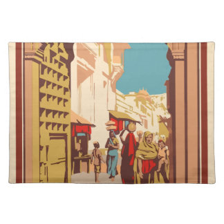 Vintage Travel India Placemat