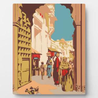 Vintage Travel India Plaque