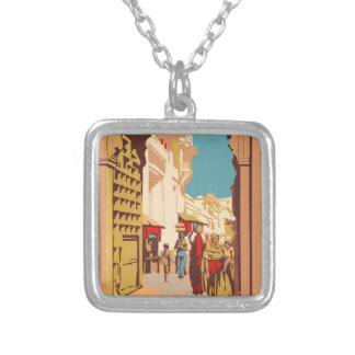 Vintage Travel India Silver Plated Necklace