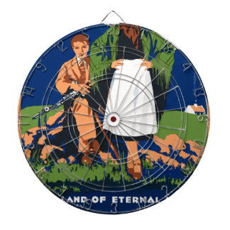 Vintage Travel Ireland Dartboard