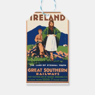 Vintage Travel Ireland Gift Tags