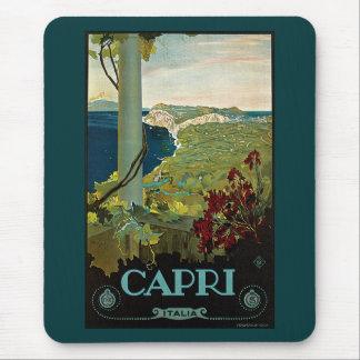 Vintage Travel, Isle of Capri, Italy Italia Coast Mouse Pad